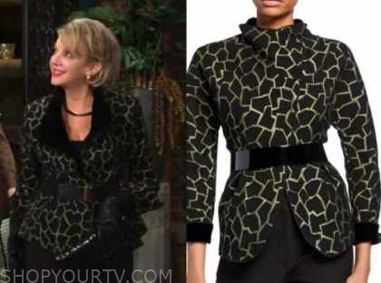 gloria abbott, judith chapman, the young and the restless, giraffe jacket