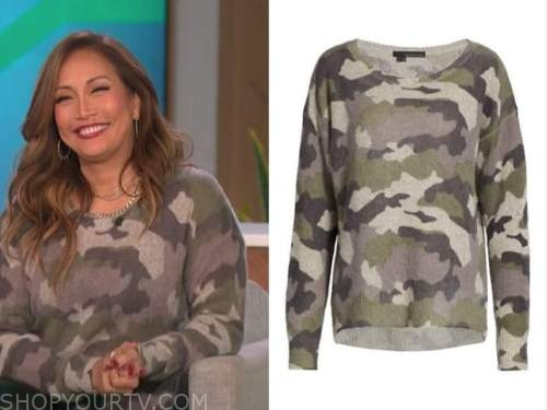 carrie ann inaba, the talk, camo sweater