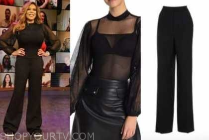 wendy williams, the wendy williams show, black top, black pants