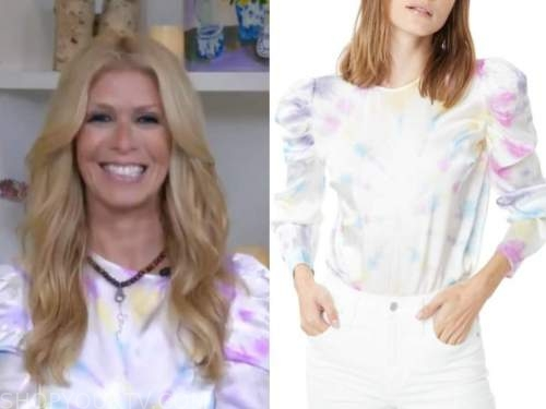 jill martin, the today show, tie dye puff sleeve top