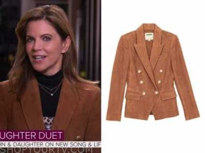 natalie morales, the today show, brown suede double breasted blazer