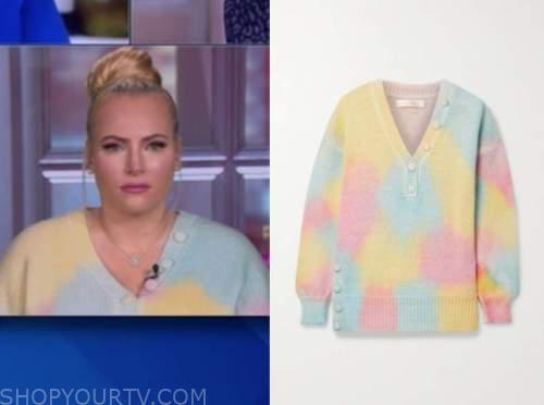 meghan mccain, the view, tie dye sweater