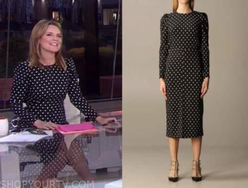 savannah guthrie, the today show, black polka dot dress