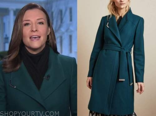 mary bruce, good morning america, teal coat