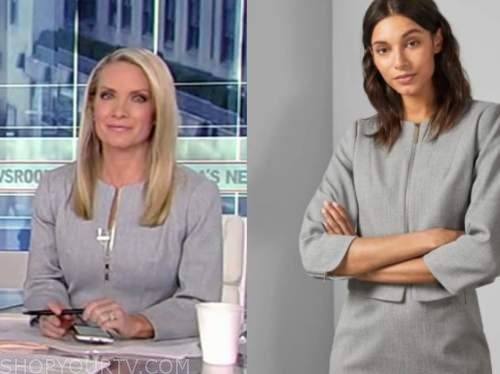 dana perino, america's newsroom, grey zipper jacket