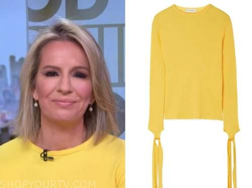 dr. jennifer ashton, good morning america, yellow tie sleeve top