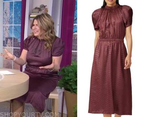 jenna bush hager, the today show, burgundy midi dress