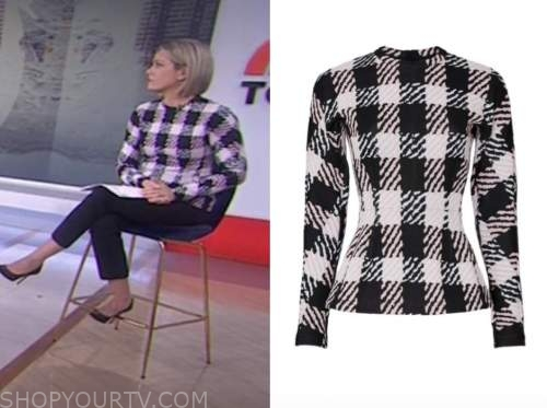 dylan dreyer, the today show, check sweater