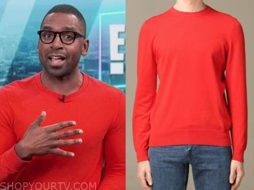 justin sylvester, the today show, red sweater