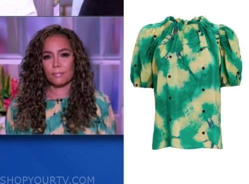 sunny hostin, the view, tie dye top