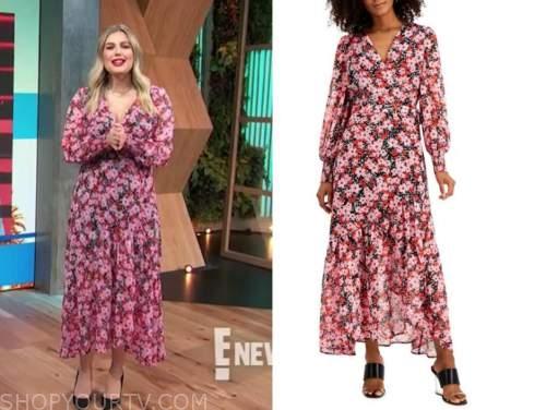 carissa culiner, E! news, daily pop, floral midi dress
