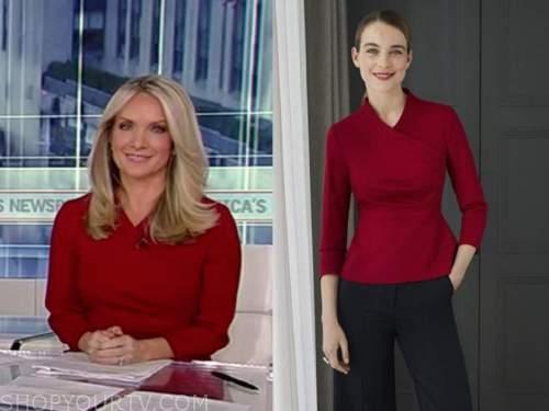 america's newsroom, dana perino, burgundy wrap top