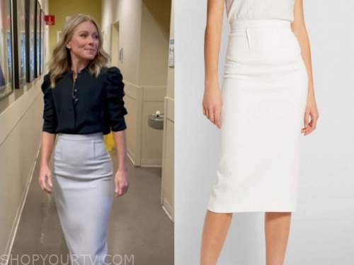 kelly ripa, pencil skirt, live with kelly and ryan