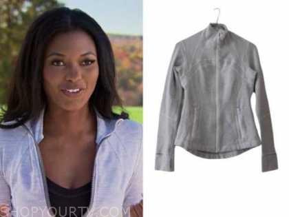lauren maddox, the bachelor, grey zipper jacket