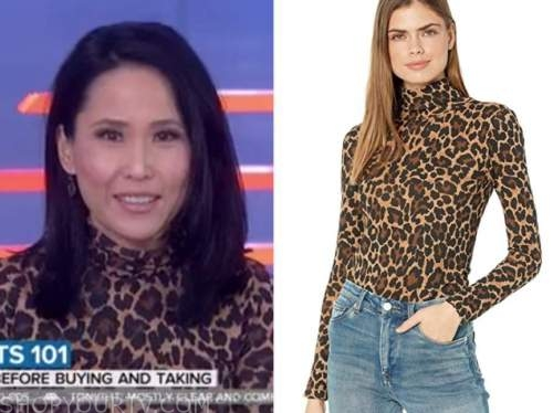 vicky nguyen, the today show, leopard turtleneck top