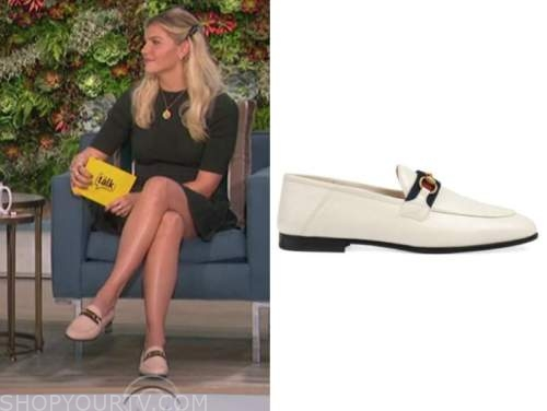 amanda kloots, the talk, white loafers