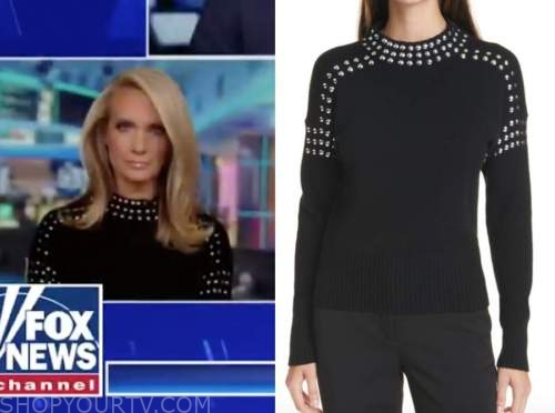dana perino, the five, black studded sweater