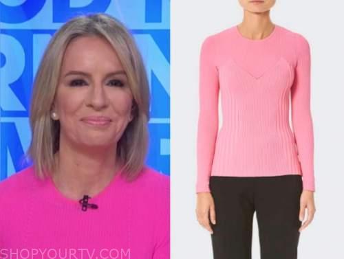 dr. jennifer ashton, pink ribbed knit sweater, good morning america