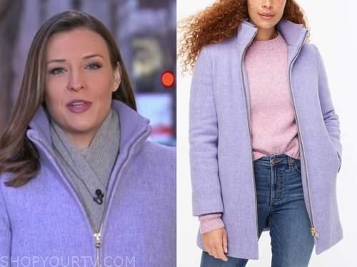 mary bruce, lavender purple coat, good morning america