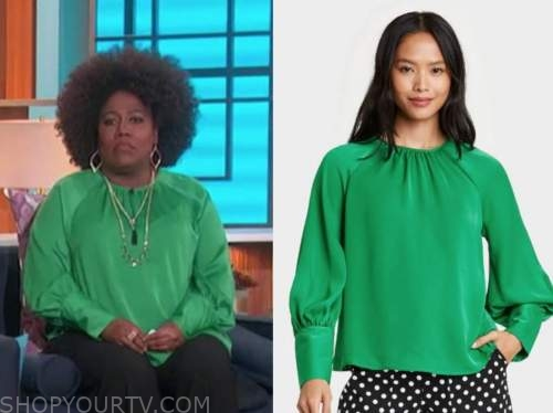 sheryl underwood, the talk, green blouse