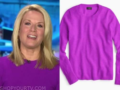 martha maccallum, the story, purple sweater