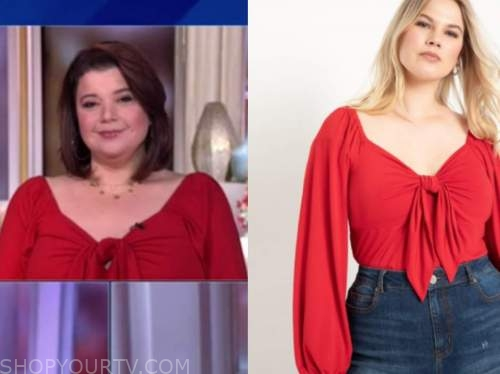 ana navarro, the view, red knot top