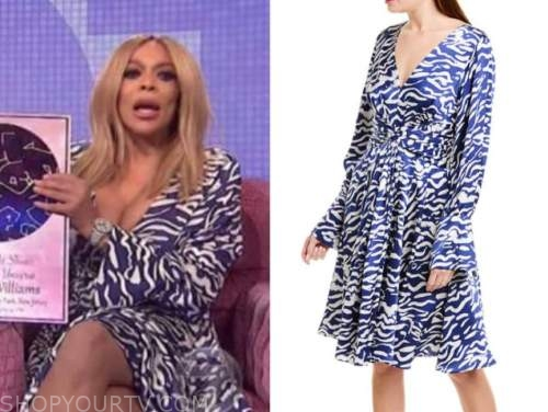 wendy williams, the wendy williams show, blue zebra print dress