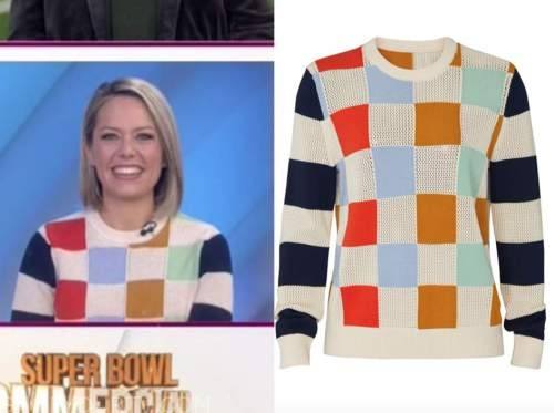 dylan dreyer, the today show, multicolor check sweater