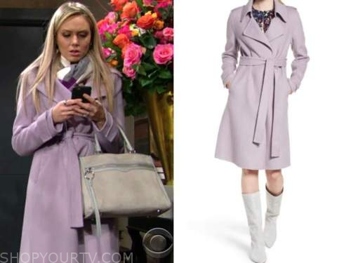 the young and the restless, purple coat, abby newman, melissa ordway