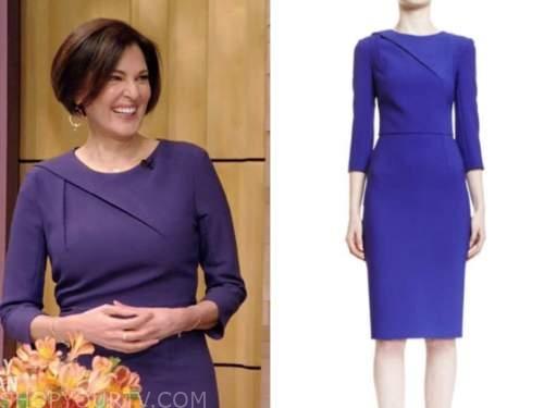 dr. doris day, purple quarter sleeve sheath dress, live with kelly and ryan