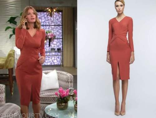 phyllis newman, michelle stafford, orange dress, the young and the restless