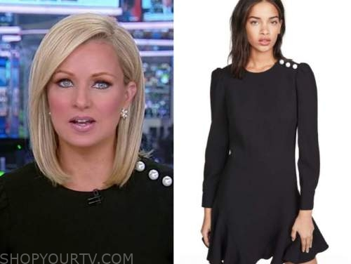 sandra smith, black pearl shoulder dress, america reports