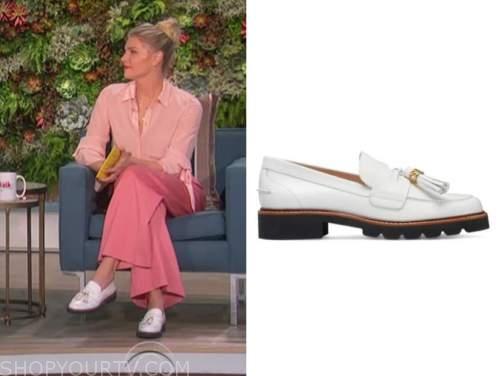 amanda kloots, the talk, white tassel loafers