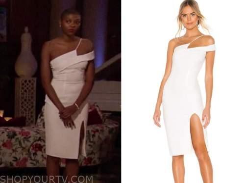 chelsea vaughn, the bachelor, white asymmetric dress