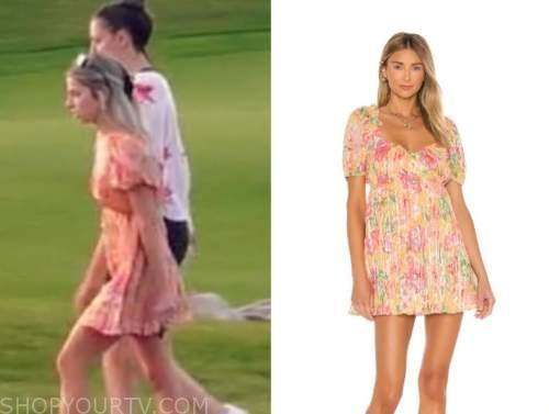 kit keenan, the bachelor, orange and pink floral mini dress