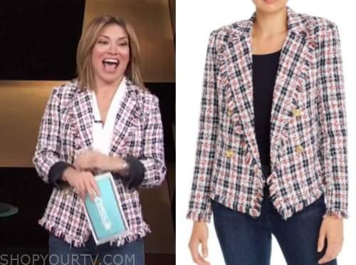 kit hoover, access daily, tweed plaid blazer
