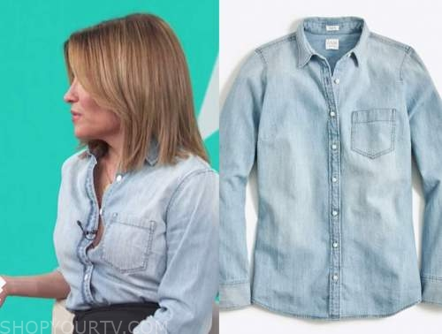 kit hoover, chambray denim shirt, access daily