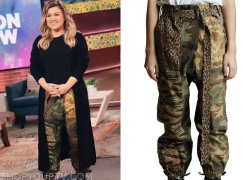 kelly clarkson, the kelly clarkson show, camo pants