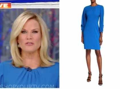 martha maccallum, the story, blue dress