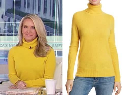 dana perino, america's newsroom, yellow turtleneck sweater
