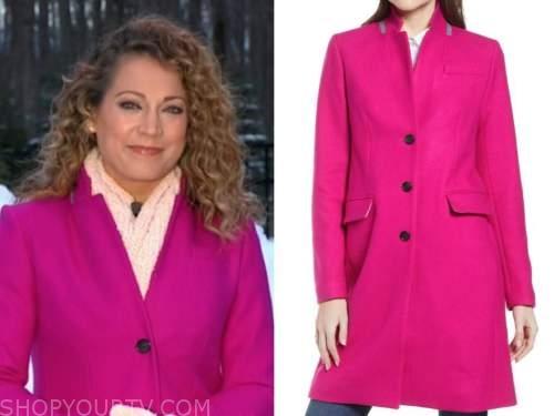 ginger zee, hot pink coat, good morning america, gma
