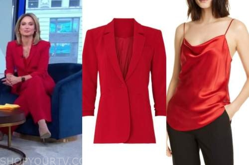 amy robach, good morning america, gma3, red blazer and pant suit