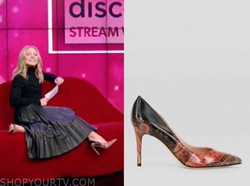 kelly ripa, live with kelly and ryan, paisley ombre pumps