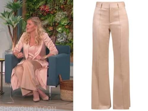 amanda kloots, the talk, blush pink pants