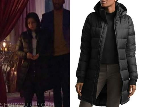 katie thurston, the bachelor, black puffer down jacket coat