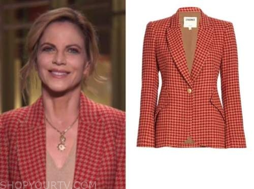 natalie morales, the today show, red houndstooth blazer