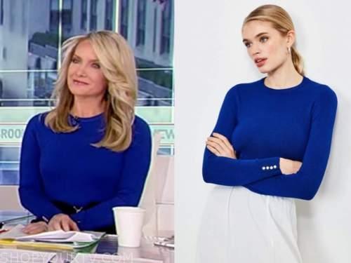 dana perino, america's newsroom, blue knit top