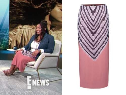 kym whitley, e! news, daily pop, pink tie dye skirt