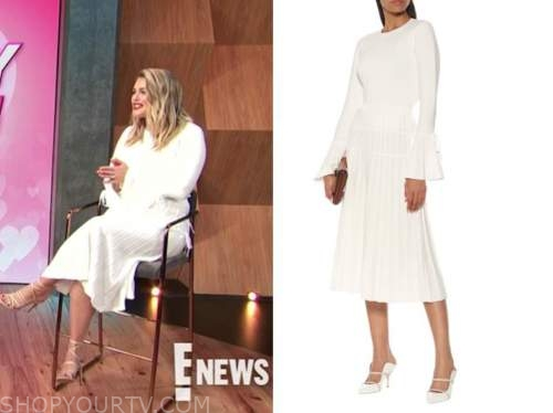 carissa culiner, E! news, daily pop, white pleated knit sweater dress