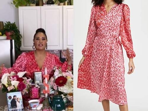 alejandra ramos, the today show, red and pink leopard dress
